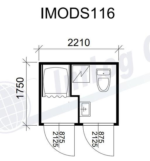 Wc-suihku 2-os. - IMODS116