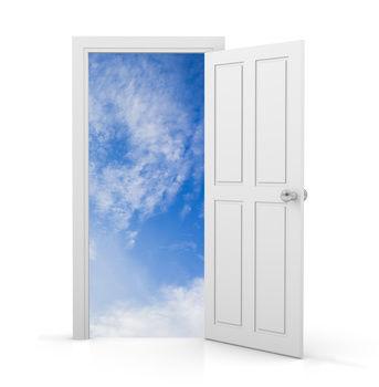 Happiness is the door