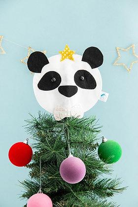 Panda Christmas Tree Topper
