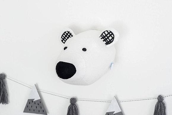 Polar Bear Felt Animal Head