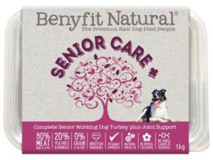 Senior Care Turkey Complete Senior Raw Working Dog Food with Joint Support
