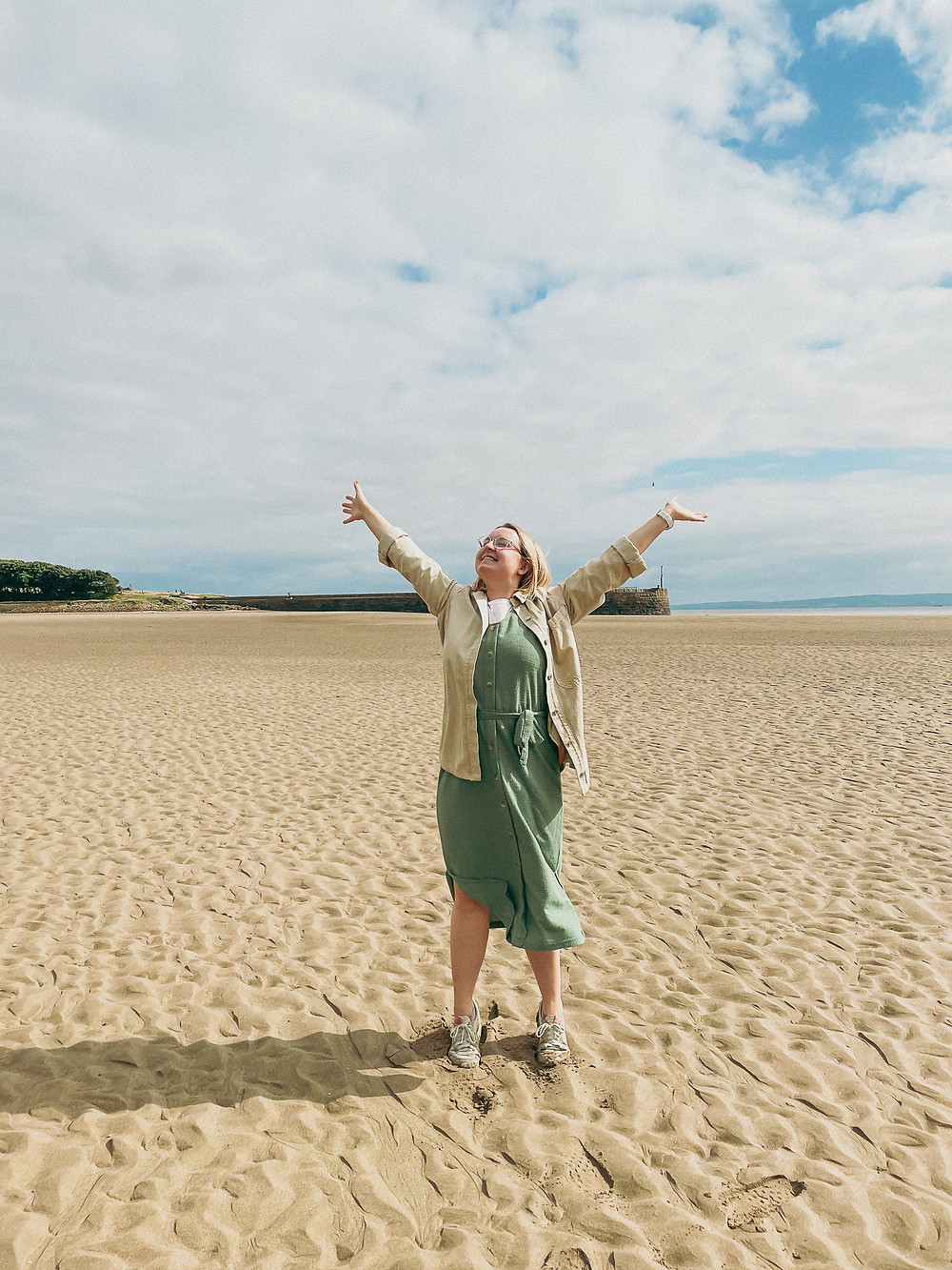 Hannah Isted Marketing Expert on Barry Island Beach