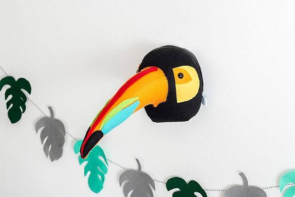 Toucan Felt Animal Head