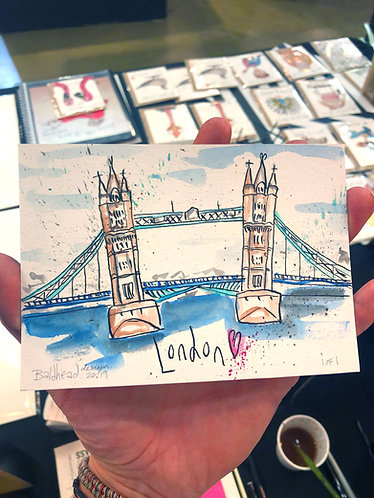 Tower Bridge London Postcard Size Artwork