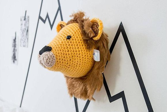 Crochet Lion Animal Head