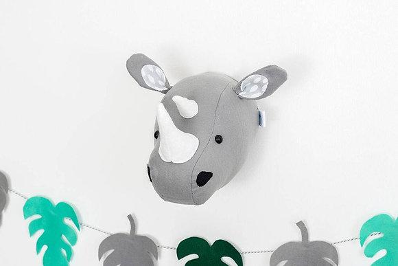 Rhinoceros Felt Animal Head