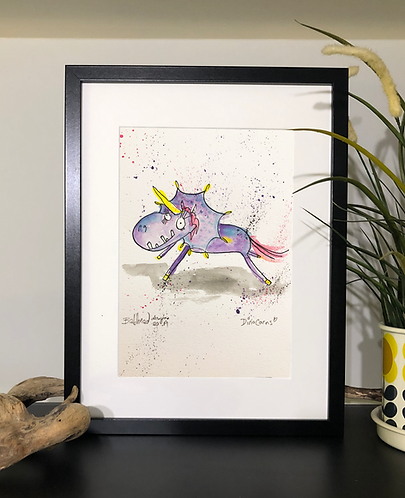 Purple Dinocorn Print