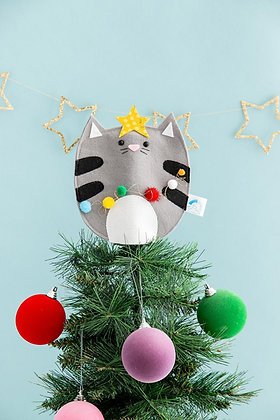 Felt Cat Christmas Tree Topper
