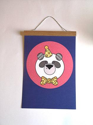 Panda Bear Wall Print