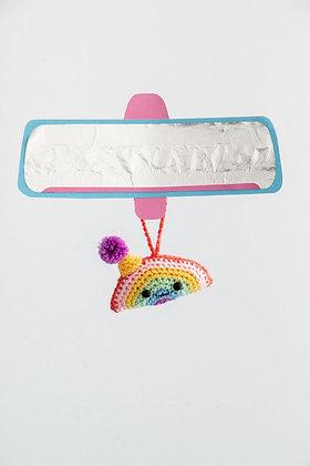 Rainbow Crochet Car Buddy