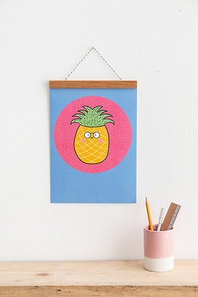 Pineapple Tropical Wall Art Print