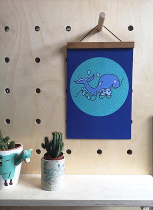 Whale Ocean Wall Print