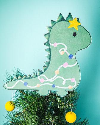 Dinosaur Christmas Tree Topper
