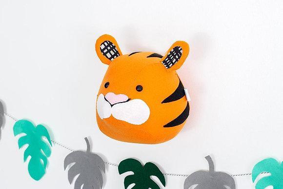 Stuffed Tiger Animal Head