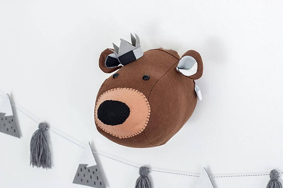 Felt Bear Brown Animal Head