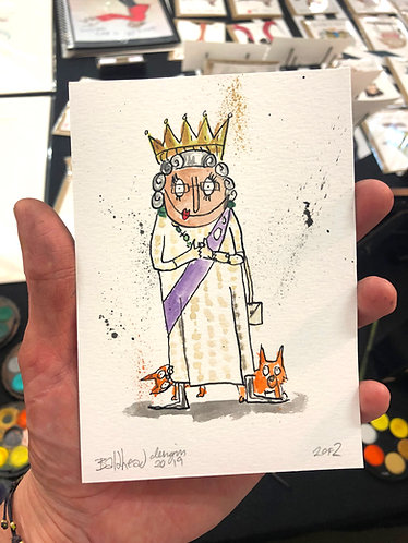 Queen London Postcard Size Artwork