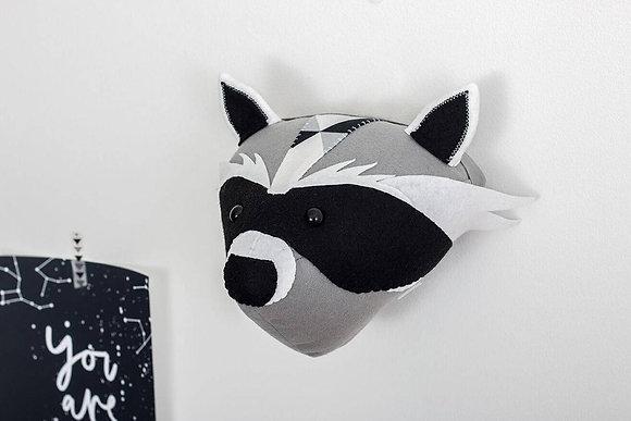 Raccoon Felt Animal Head