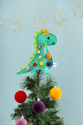 Dinosaur Christmas Tree Topper