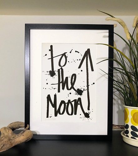 To the moon art