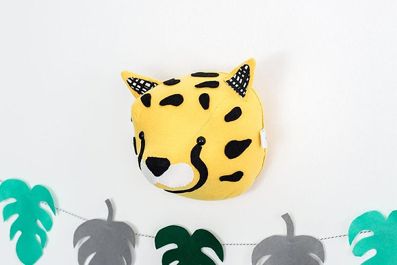 Cheetah Felt Animal Head