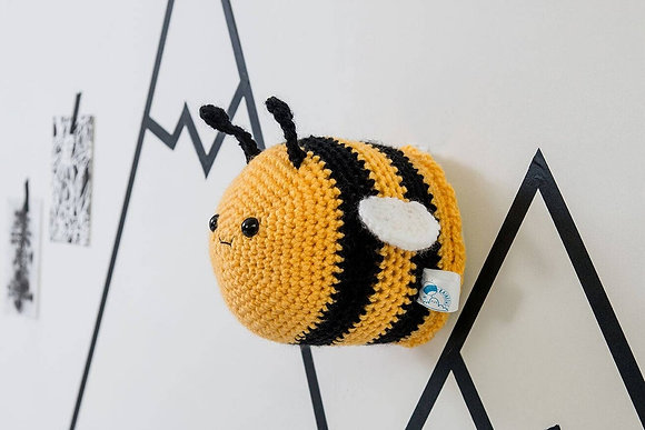 Bumble Bee Crochet Animal Head