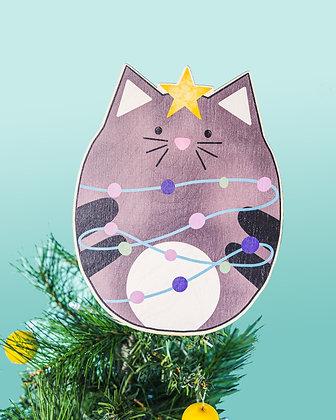 Cat Christmas Tree Topper