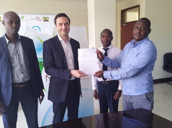 It's a Go! Hydrobox and NETFUND sign agreement to build first Hydrobox for Kenyan government !