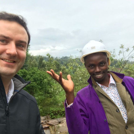 Co-Founders Thomas Poelmans and John Magiro on site in Kenya