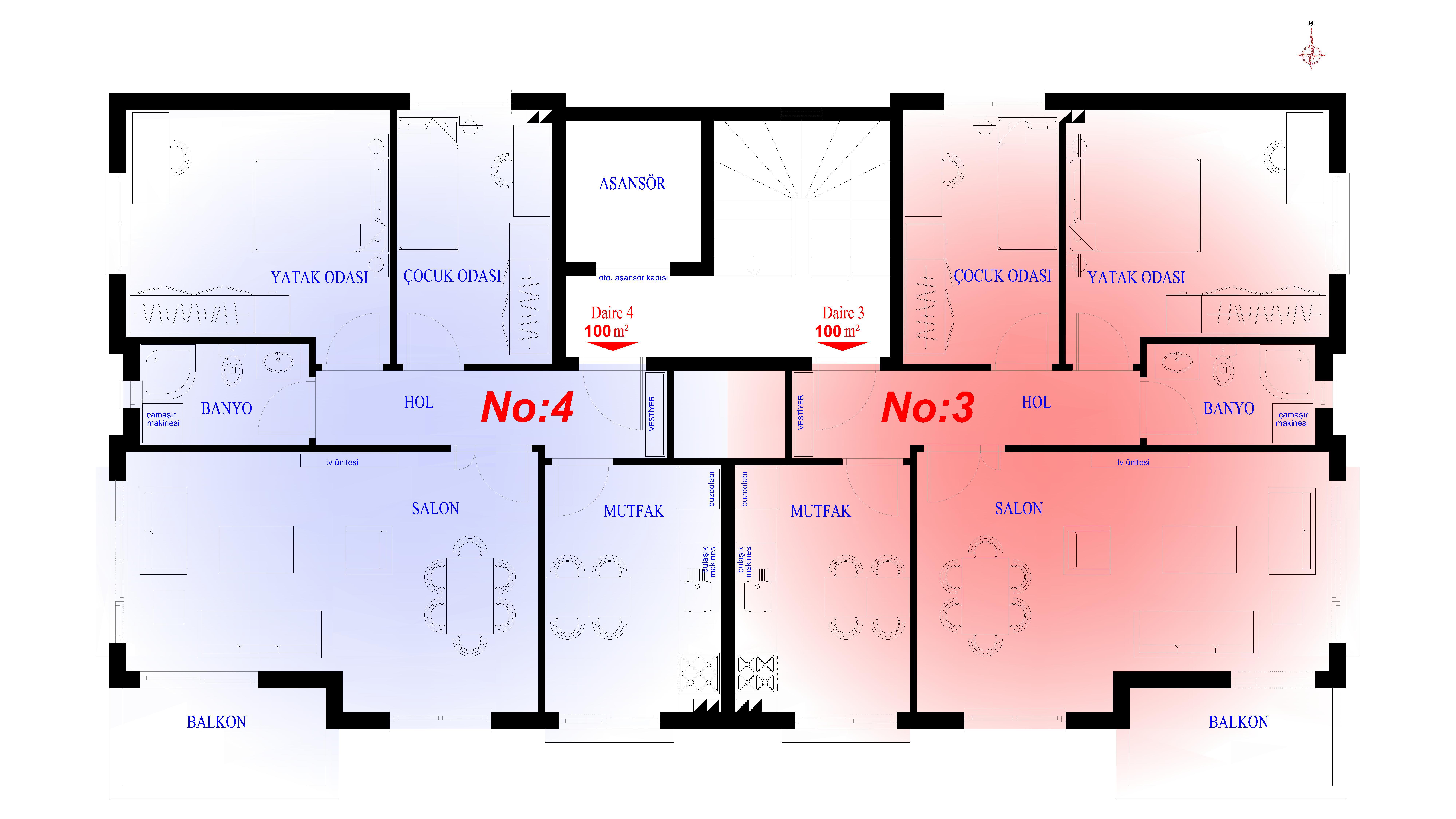 (2+1) 1. kat plan