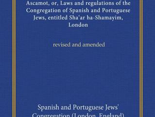 Resenha do Livro Ascamot (Leis) da Sinagoga E & P de Londres