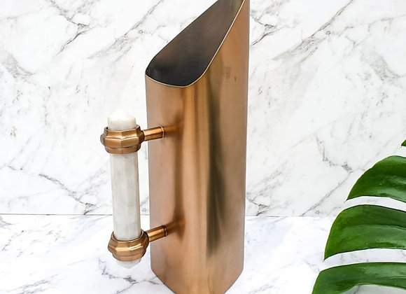 Brushed copper Clinq water/cocktail jug