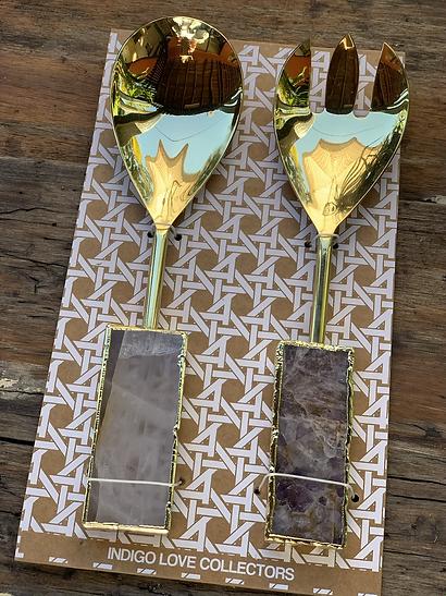Crystal Salad Servers