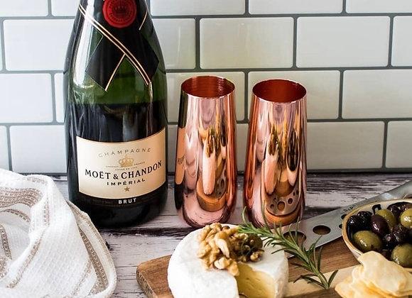 Copper Champagne Flutes