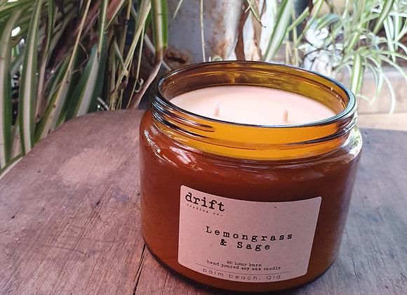 Drift candle lemongrass and sage