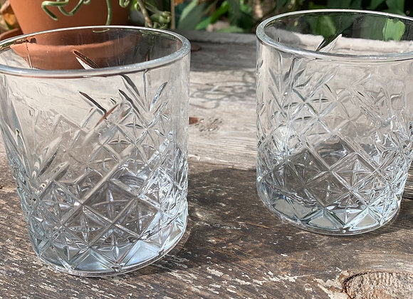 Glass tumbler short