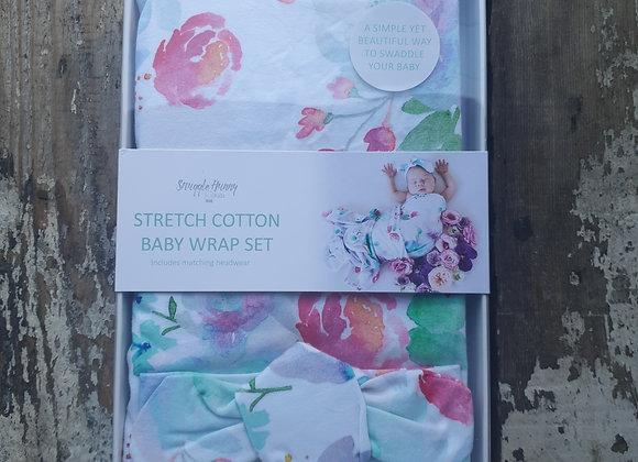 Stretch cotton baby wrap set