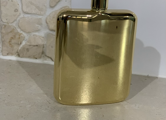 Luxe gold hip flask