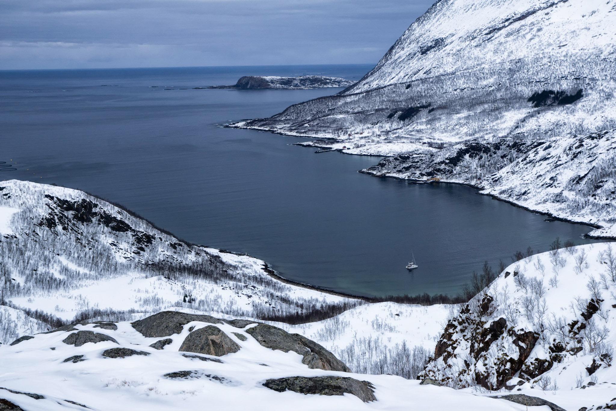 Ski voile dans les fjords du grand nord Ski voile dans les fjords du grand nord Ski voile dans les f