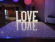 Illuminated LOVE Letters Hire  in the North West, Cheshire and Lancashire!