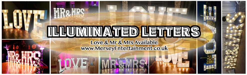 Hire our stunning Illuminated LOVE or Mr & Mrs Letters for your special wedding day.