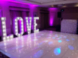 Illuminated LOVE Letters hire around the North West, Lancashire and Cheshire