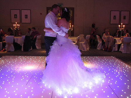 LED Starlit Twinkle Dancefloor Hire  in the North West, Cheshire and Lancashire!