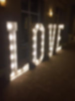 Illuminated LOVE Letters Hire
