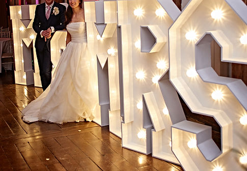 Illuminated Mr & Mrs Hire around the North West, Lancashire and Cheshire