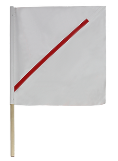 White Barricade Flag