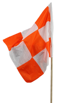 Orange & White Checkered Vehicle Flag