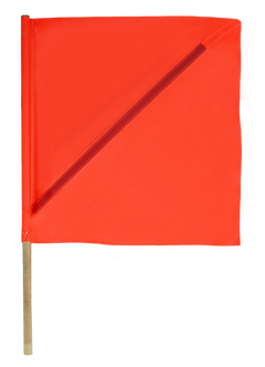 Orange Barricade Flag