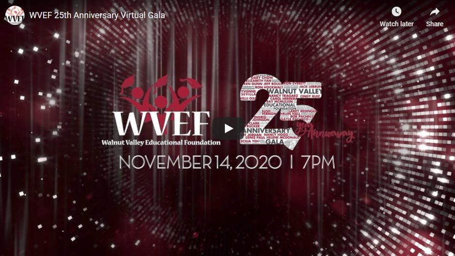 WVEF 25th Anniversary Virtual Gala