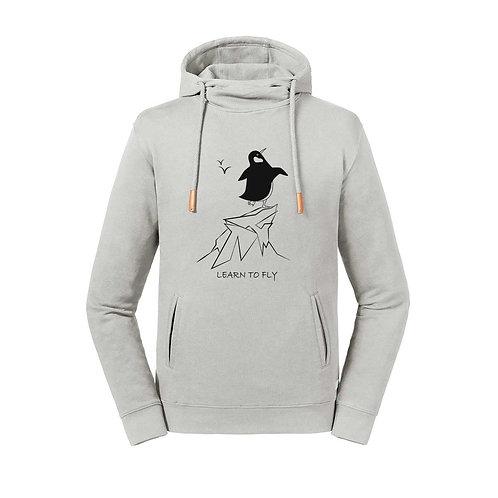 Organic Hoodie Sughero Stone - Pinguino