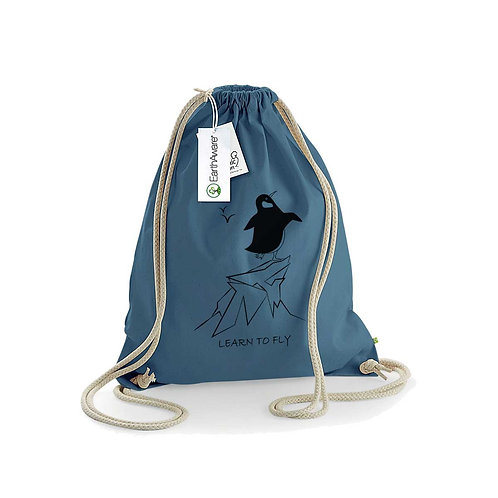 Organic Gymsac Airforce Blue - Pinguino